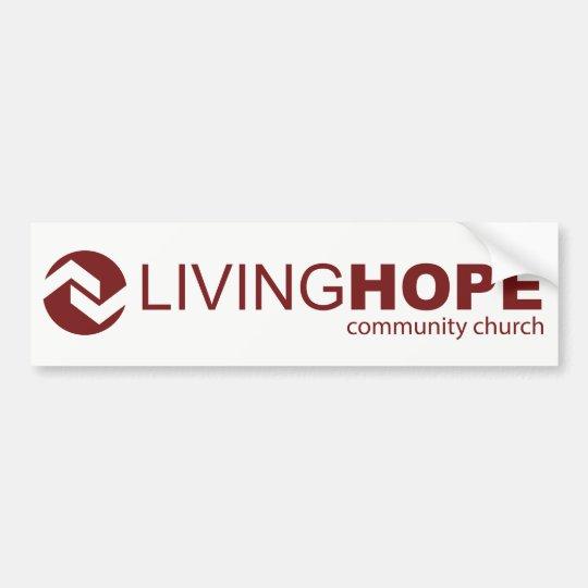 Pegatina para el parachoques viva de la esperanza