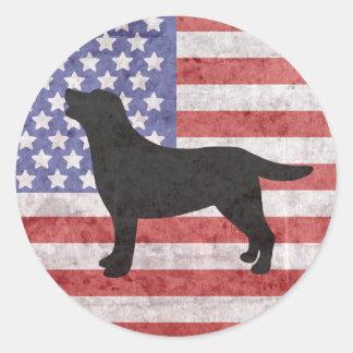 Pegatina patriótico de la bandera americana del
