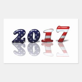Pegatina patriótico del Año Nuevo del americano