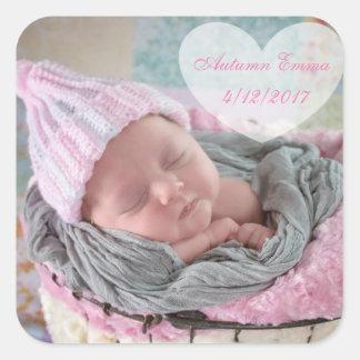 Pegatina personalizado de la foto del bebé de la