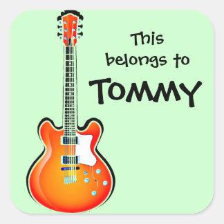 Pegatina personalizado de la guitarra