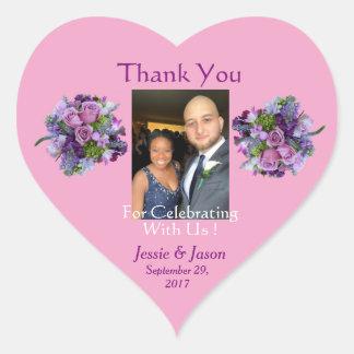 Pegatina personalizado del boda del corazón