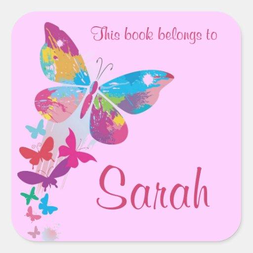 Pegatina personalizado del Bookplate de la