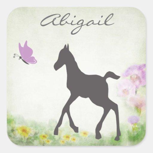 Pegatina personalizado del caballo del potro y de