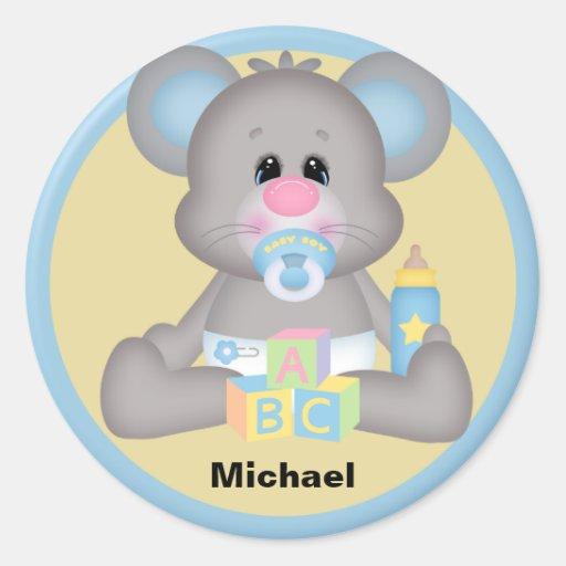 Pegatina personalizado del ratón del bebé