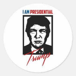 Pegatina presidencial del triunfo