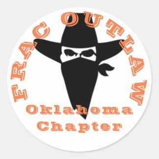 Pegatina proscrito Frac del capítulo de Oklahoma