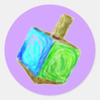 Pegatina púrpura de Dreidel