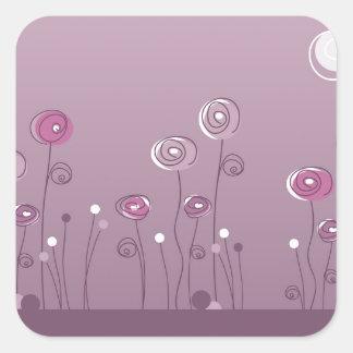 Pegatina púrpura del verano