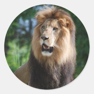 Pegatina real del león