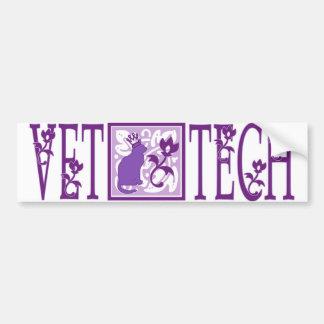 pegatina real púrpura de la tecnología del