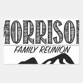 Pegatina Rectangular 2017 artículos de la reunión de Morrison - fondo