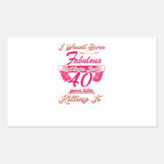 Pegatina Rectangular 65.a camiseta linda del regalo de la fiesta de