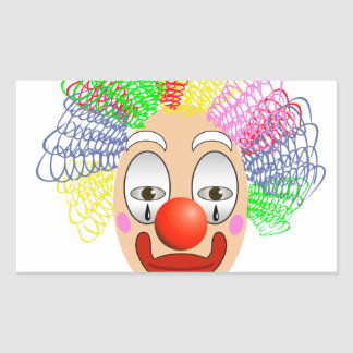 Pegatina Rectangular 97Clown Head_rasterized