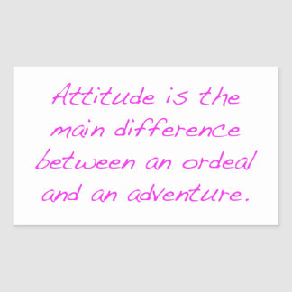 Pegatina Rectangular Actitud - prueba dura o aventura