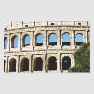 Pegatina Rectangular agujeros y arcos