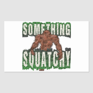 Pegatina Rectangular Algo Squatchy