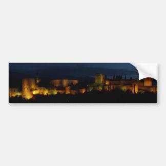 Pegatina rectangular, Alhambra, Granada Pegatina Para Coche