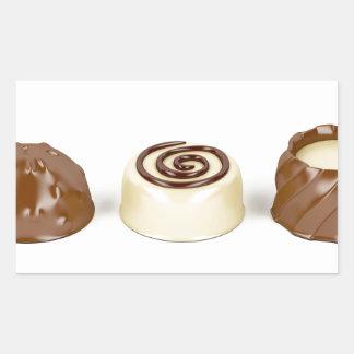 Pegatina Rectangular Almendras garapiñadas del chocolate