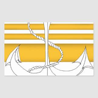 Pegatina Rectangular almirante del oro, fernandes tony