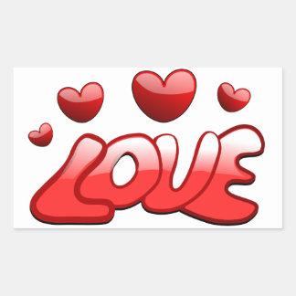 Pegatina Rectangular Amor