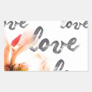 Pegatina Rectangular Amor del amor del amor