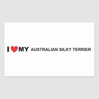 Pegatina Rectangular amor sedoso australiano