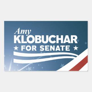 Pegatina Rectangular Amy Klobuchar para el senado