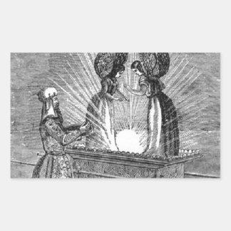 Pegatina Rectangular Ángeles sobre la Arca de la Alianza