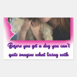 Pegatina Rectangular Antes de que usted consiga un perro