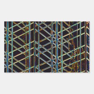 Pegatina Rectangular Arquitectura abstracta
