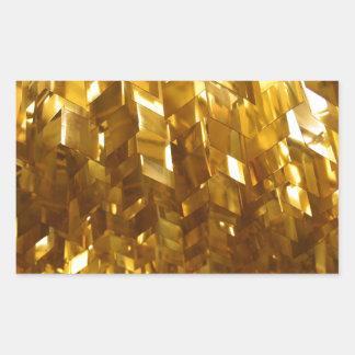 Pegatina Rectangular Arte abstracto del techo del oro