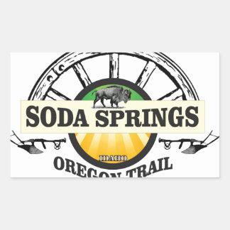 Pegatina Rectangular arte del rastro de Soda Springs Oregon