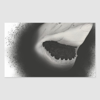 Pegatina Rectangular Ataque entintado del tiburón