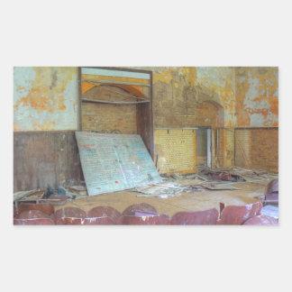 Pegatina Rectangular Auditorio 01,0, lugares perdidos, Beelitz