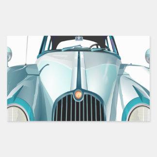 Pegatina Rectangular automóvil del vintage del coche del oldtimer
