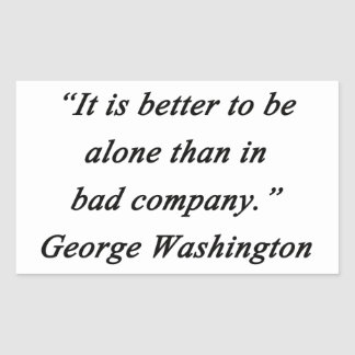 Pegatina Rectangular Bad Company - George Washington