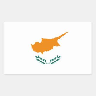 Pegatina Rectangular ¡Bajo costo! Bandera de Chipre