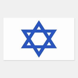 Pegatina Rectangular ¡Bajo costo! Bandera de Israel