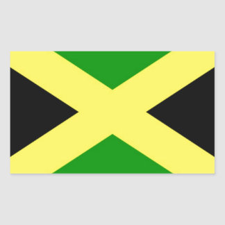 Pegatina Rectangular ¡Bajo costo! Bandera de Jamaica