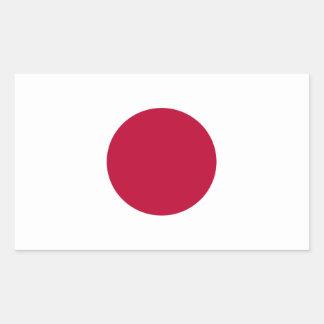 Pegatina Rectangular ¡Bajo costo! Bandera de Japón
