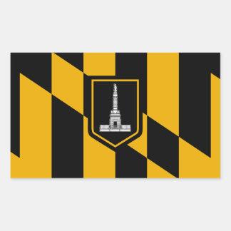 Pegatina Rectangular Bandera de Baltimore