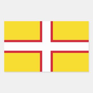 Pegatina Rectangular Bandera de Dorset