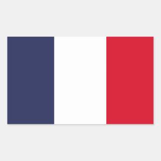 Pegatina Rectangular Bandera de Francia