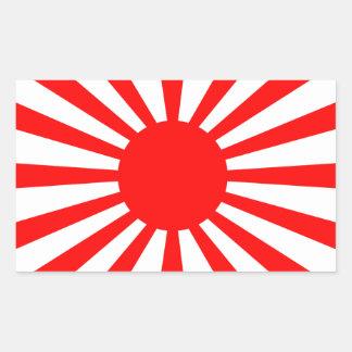 Pegatina Rectangular Bandera de la guerra del ejército de japonés