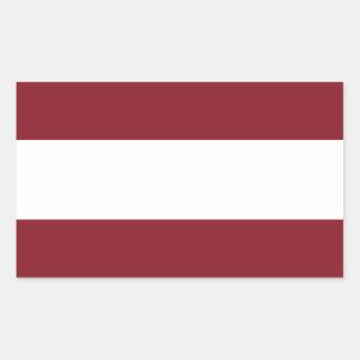Pegatina Rectangular Bandera de Letonia