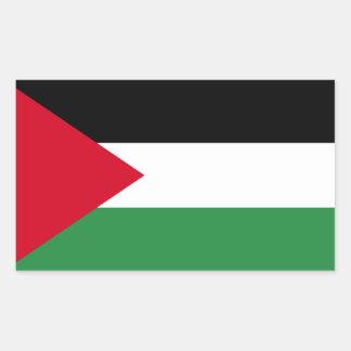 Pegatina Rectangular Bandera de Palestina