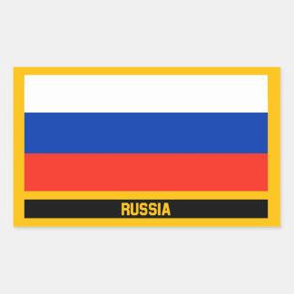 Pegatina Rectangular Bandera de Rusia