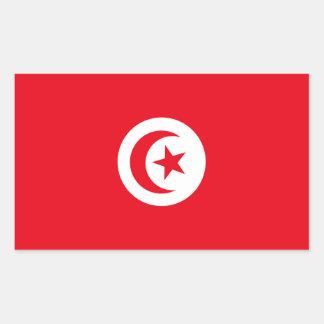 Pegatina Rectangular Bandera de Túnez