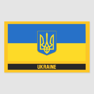 Pegatina Rectangular Bandera de Ucrania